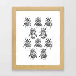 Many Owls (1) Framed Art Print