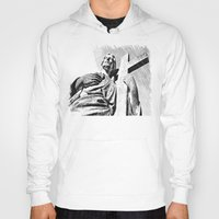 christ Hoodies featuring Christ statue by Vorona Photography