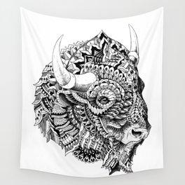 Bison v2 Wall Tapestry