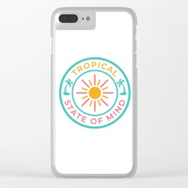 Tropical State of Mind Clear iPhone Case