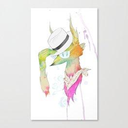 Rock the Floral Canvas Print