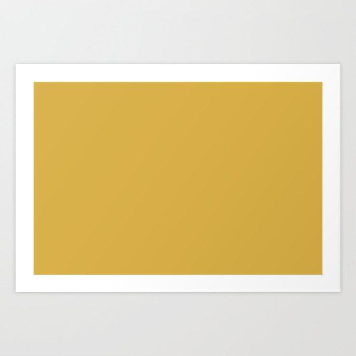 PANTONE 14-0952 Spicy Mustard Art Print