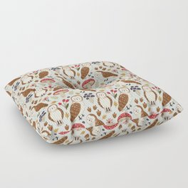 Woodland Owls Pattern Floor Pillow