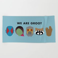 We Are Groot Beach Towel