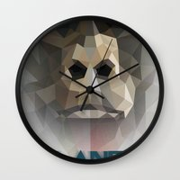 ape Wall Clocks featuring ape by muszka