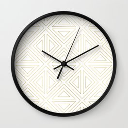 Angled White Gold Wall Clock