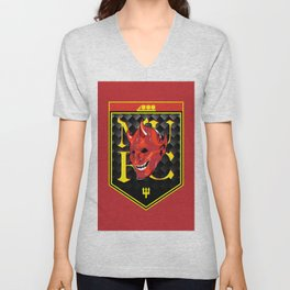 Man Red badge Unisex V-Neck