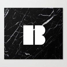 Black Marble - Alphabet B Canvas Print