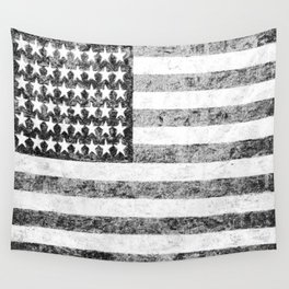Grunge American Flag Wall Tapestry