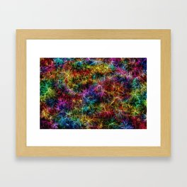 Rainbow Weaving Framed Art Print