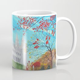 Salt Lake City, Utah LDS Temple in Autumn Coffee Mug