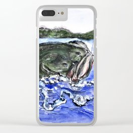 Jumping Bass Clear iPhone Case