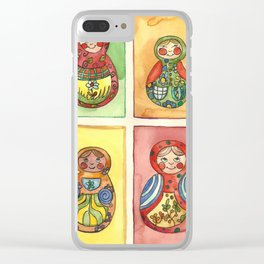 Nesting Dolls Clear iPhone Case