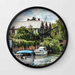 On The Avon At Tewkesbury Wall Clock