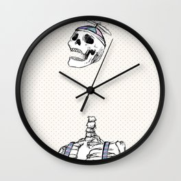 "Spooky Scary Skeleton 11""x17"" Wall Clock"
