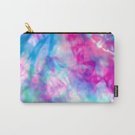 Cool Artsy Girly Purple Pink Blue Tie Dye Pattern Carry-All Pouch