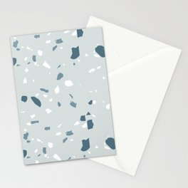 Terrazzo blues Stationery Cards