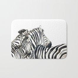 Zebra family Bath Mat