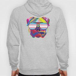 Gay Pride Transgender Psychedelic Pug Dog  design Hoody