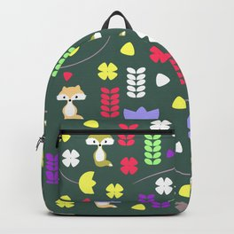 Foxes, flowers and more Backpack