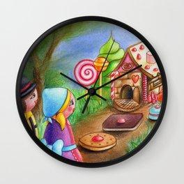 Kokeshis Hansel and Gretel Wall Clock