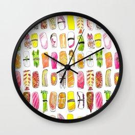 Sushi Watercolor-- Nigiri Sushi Wall Clock