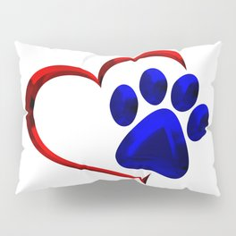 Paw Print on My Heart Pillow Sham