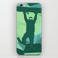 snowboard iPhone & iPod Skins featuring Snowboard by B Remembered Designs