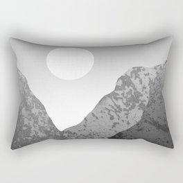 Moon and Mountains Rectangular Pillow