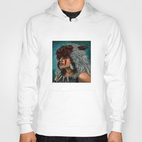 princess mononoke Hoodies featuring .:Princess Mononoke:. by Kimberly Castello