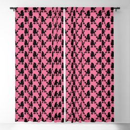 Angry Animals - French Poodle Blackout Curtain