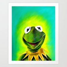 The Muppets- Kermit the Frog Art Print