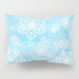 Snowflakes - Blue Pillow Sham