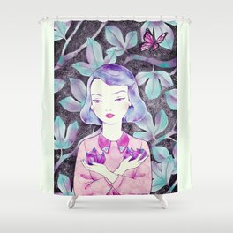 under the fig tree Shower Curtain