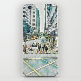 Textured Wan Chai iPhone Skin