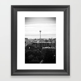 Dear Space Needle, I miss you. Framed Art Print
