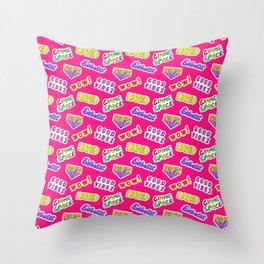 Good vibez / Red Throw Pillow