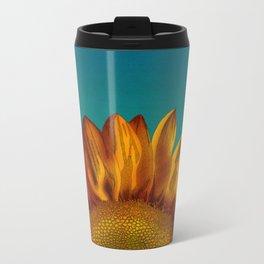 A Sunflower Metal Travel Mug