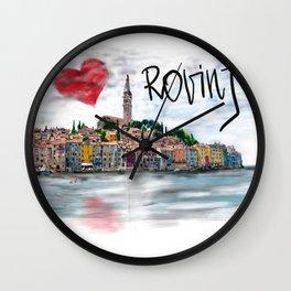 I love Rovinj Wall Clock