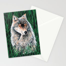 Grey Canadian Wolf Stationery Cards