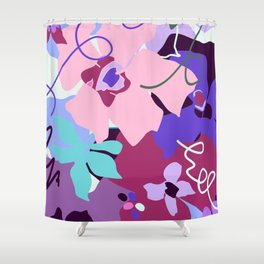 Peach Flower Song Shower Curtain