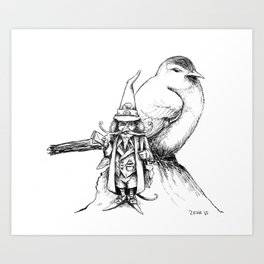 The Bird Post Art Print