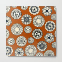 mandala cirque spot orange Metal Print