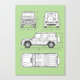 GWAGON BLUEPRINT (green) Canvas Print