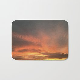 Orange Clouds - Sunsets at The Fly series Bath Mat
