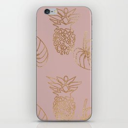 Gold Tropical iPhone Skin