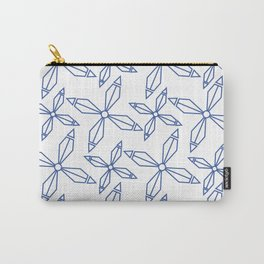 blue abstract pinwheels Carry-All Pouch