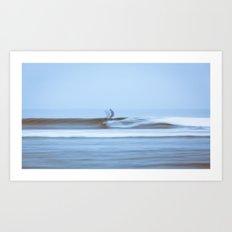 Malibu Blur Art Print
