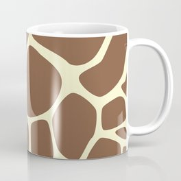 Animal Print (Giraffe Pattern) - Brown Yellow Coffee Mug