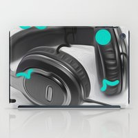 headphones iPad Cases featuring Headphones by Oliver Green
